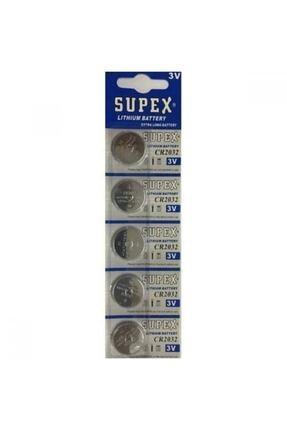 Supex Cr 2032 3v Şeker Ölçüm Cihazı Pili , Baskül Tartı Pili , Bios Pili , Anakart Pili 5 Li