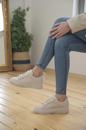 STRASWANS Kadın  Papel Rugan Spor Ayakkabı Bej