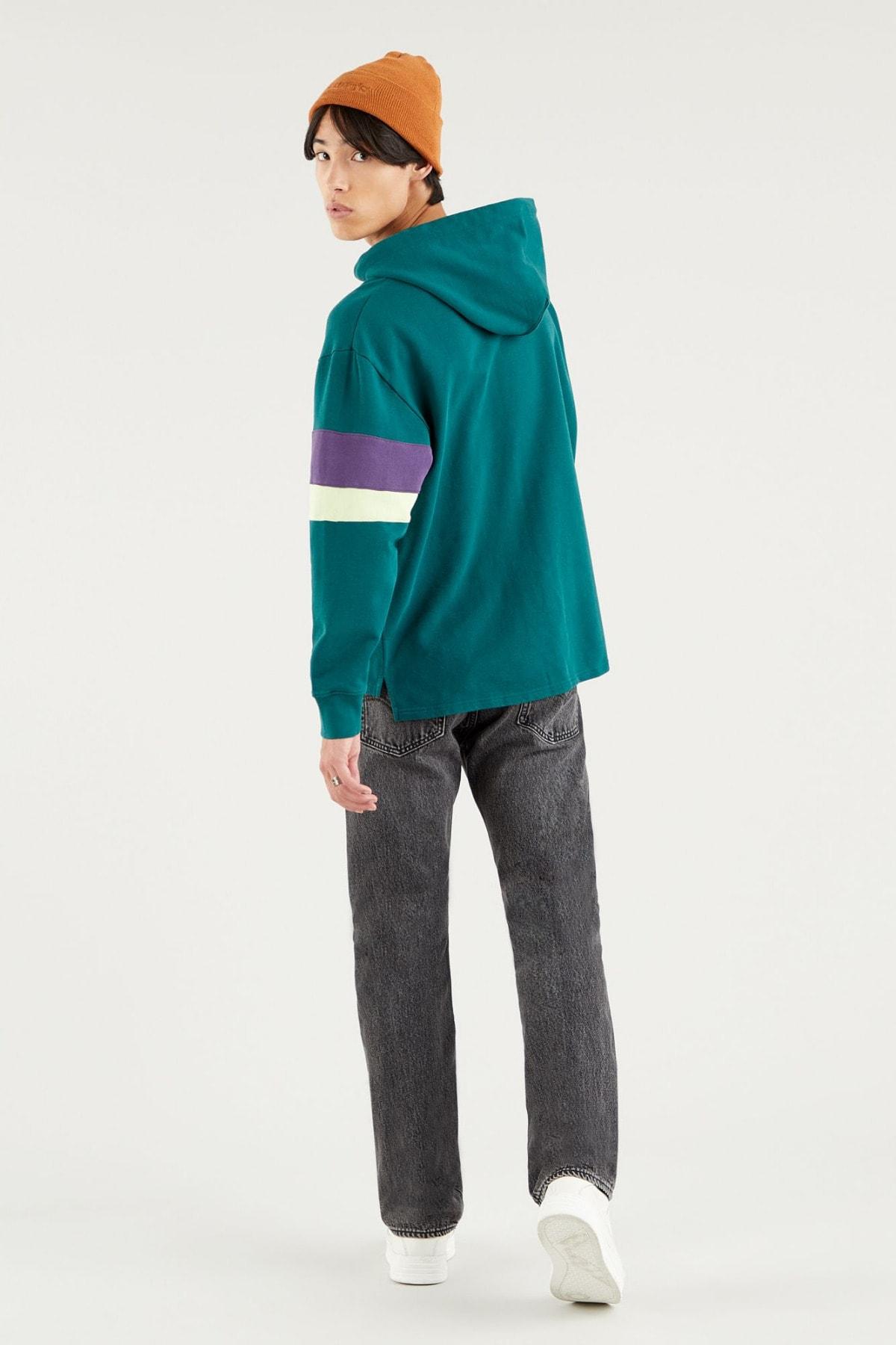 Levi's Erkek Yeşil Kapüşonlu Relaxed Sweatshirt 2