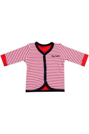 Pierre Cardin Baby Pierre Cardin Kırmızı Çizgili Uzunkol Bebek Yeleği Kırmızı-lacivert