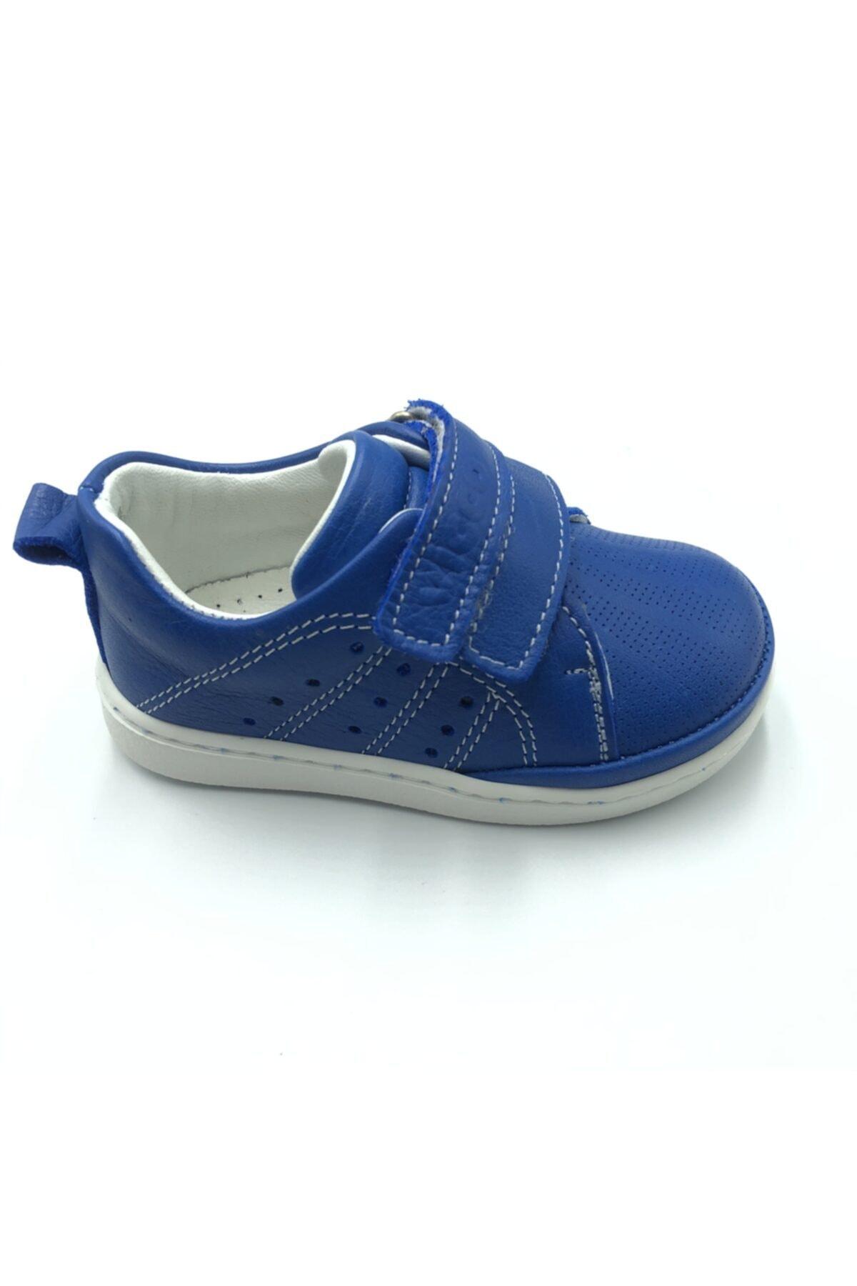 Vicco Unisex Ilk Adım Saks Mavi Deri Ayakkabı 1
