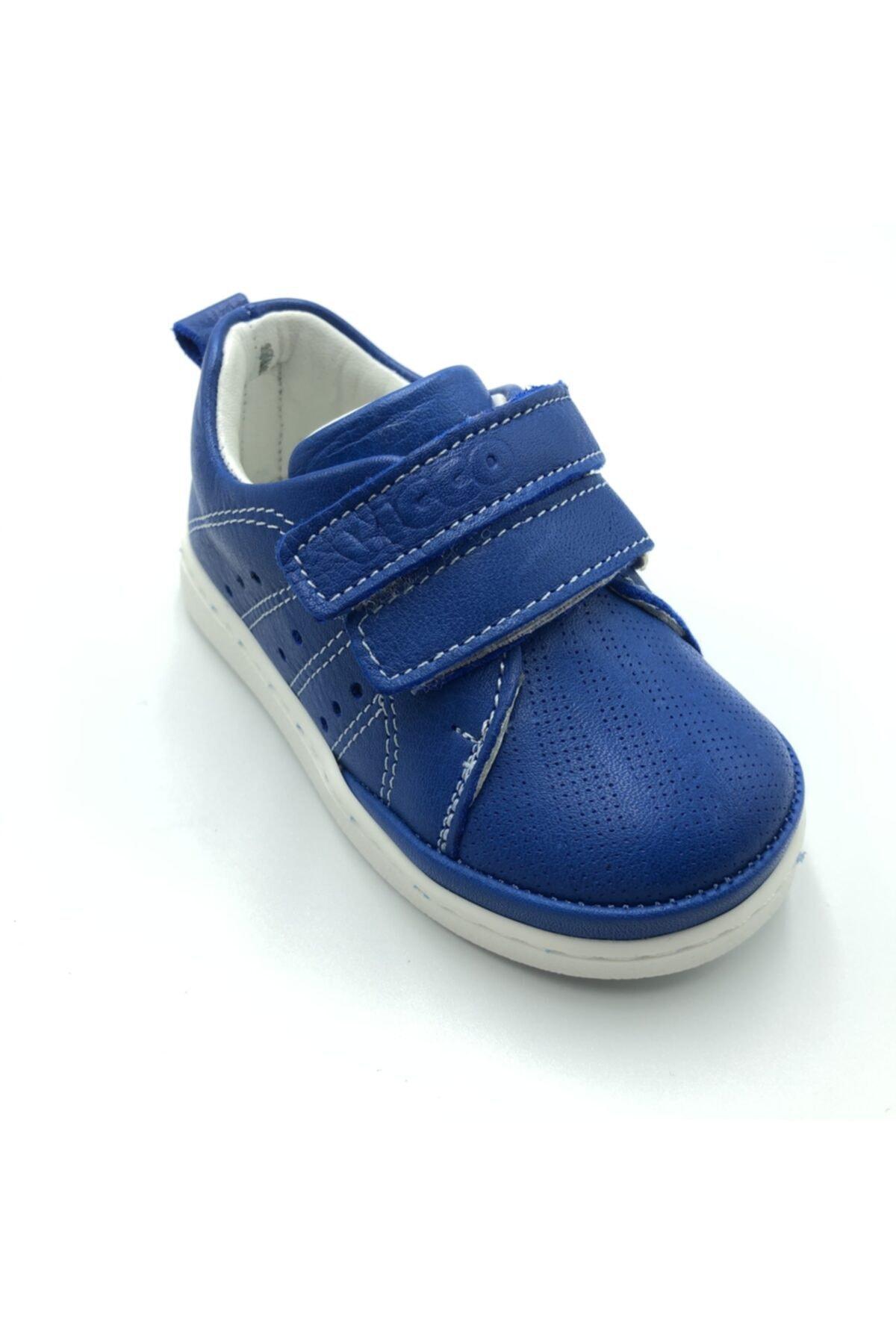 Vicco Unisex Ilk Adım Saks Mavi Deri Ayakkabı 2