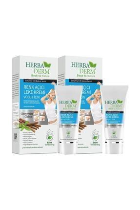 Herbaderm Vücut İçin Renk Açıcı Leke Kremi 60 ml 2 Li Paket