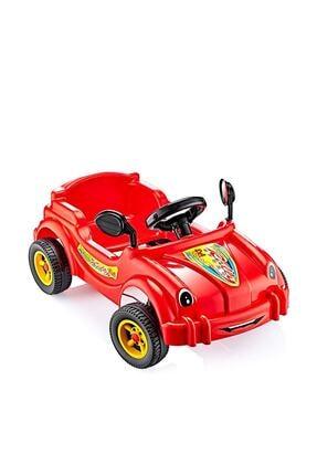 GÜÇLÜ Kırmızı Pedallı Porshe Araba 4 Tekerli Çocuk Bisikleti 84 x 48 cm