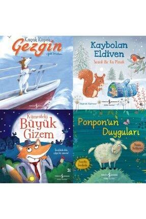 İş Bankası Kültür Yayınları 3-6 Yaş Renkli Resimli Büyük Boy Çocuk Masal Kitapları Seti 4 Kitap-kaybolan Eldiven-kümesteki