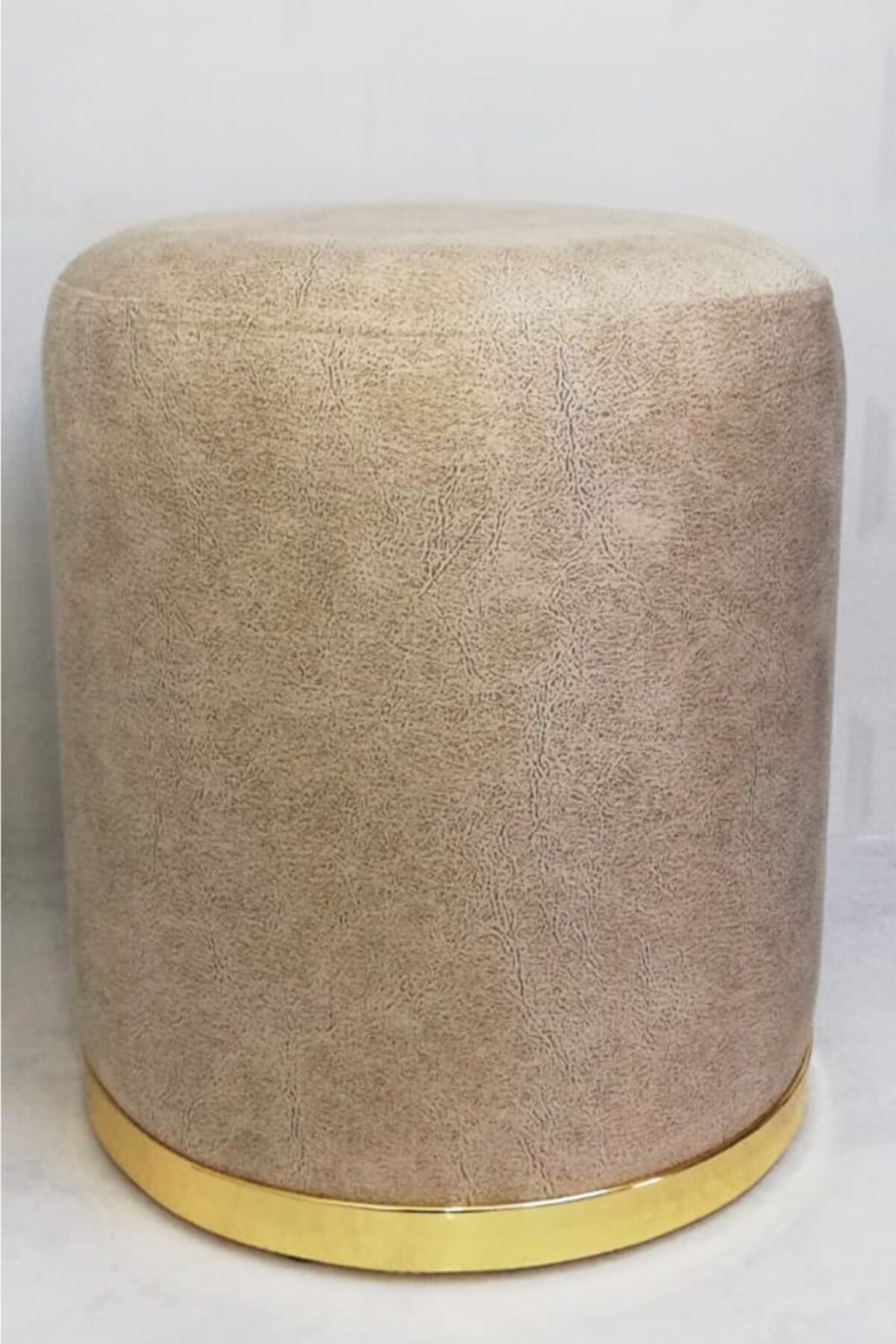 Zem Nora Silinebilir Puf - Cream Gold 2