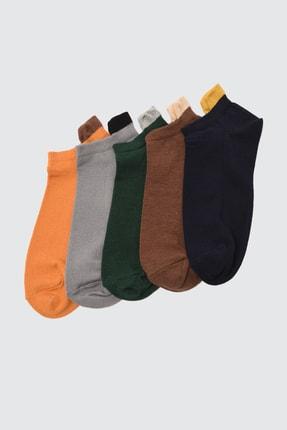 TRENDYOL MAN Çok Renkli Erkek 5'li Paket Suba Sneaker Çorap TMNSS21CO0102