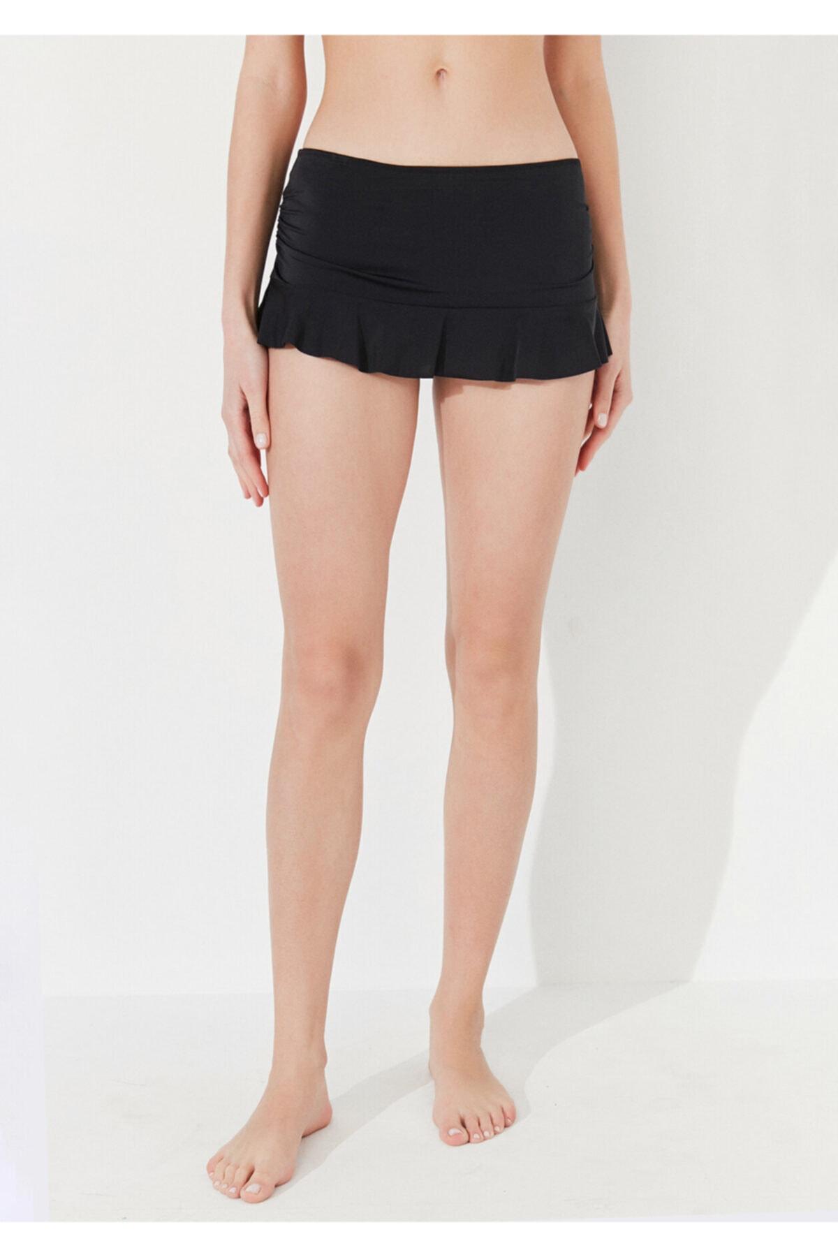 Penti Kadın Siyah Basic Etekli Bikini Altı 1