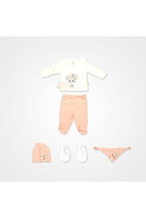 İmaj Kız Bebek Takımı 5'li - Somon