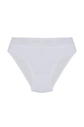 Şahin Kadın Beyaz Beli Dantelli %100 Pamuk Külot Shn30525b