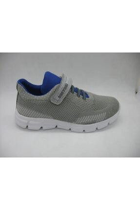 Toddler Erkek Çocuk Gri Deri Tabanlı Spor Ayakkabısı 0404