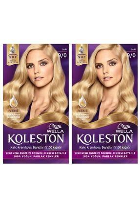 Wella Koleston 9/0 Kit Sarı Saç Boyası 2li