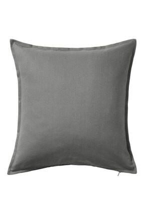 IKEA Minder Kırlent Kılıfı Meridyendukkan 50x50 Cm Gri Rengi Fermuarlı Yastık Kılıfı