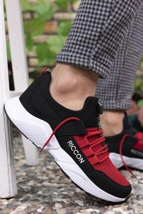 Riccon Siyah Kırmızı Unisex Sneaker