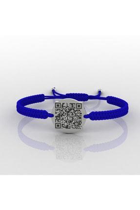 diamood jewelry Hes Kodu Qr Bileklik Mavi Makrome Örgü Ipli