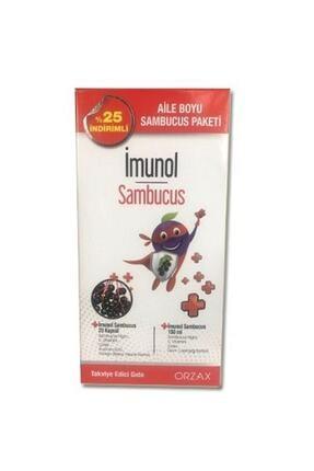 İMUNOL Sambucus Şurup 150 Ml + Sambucus 20 Kapsül - Aile Boyu Paket