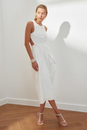 TRENDYOLMİLLA Ekru Sırt Detaylı Askılı Elbise TWOSS21EL3598