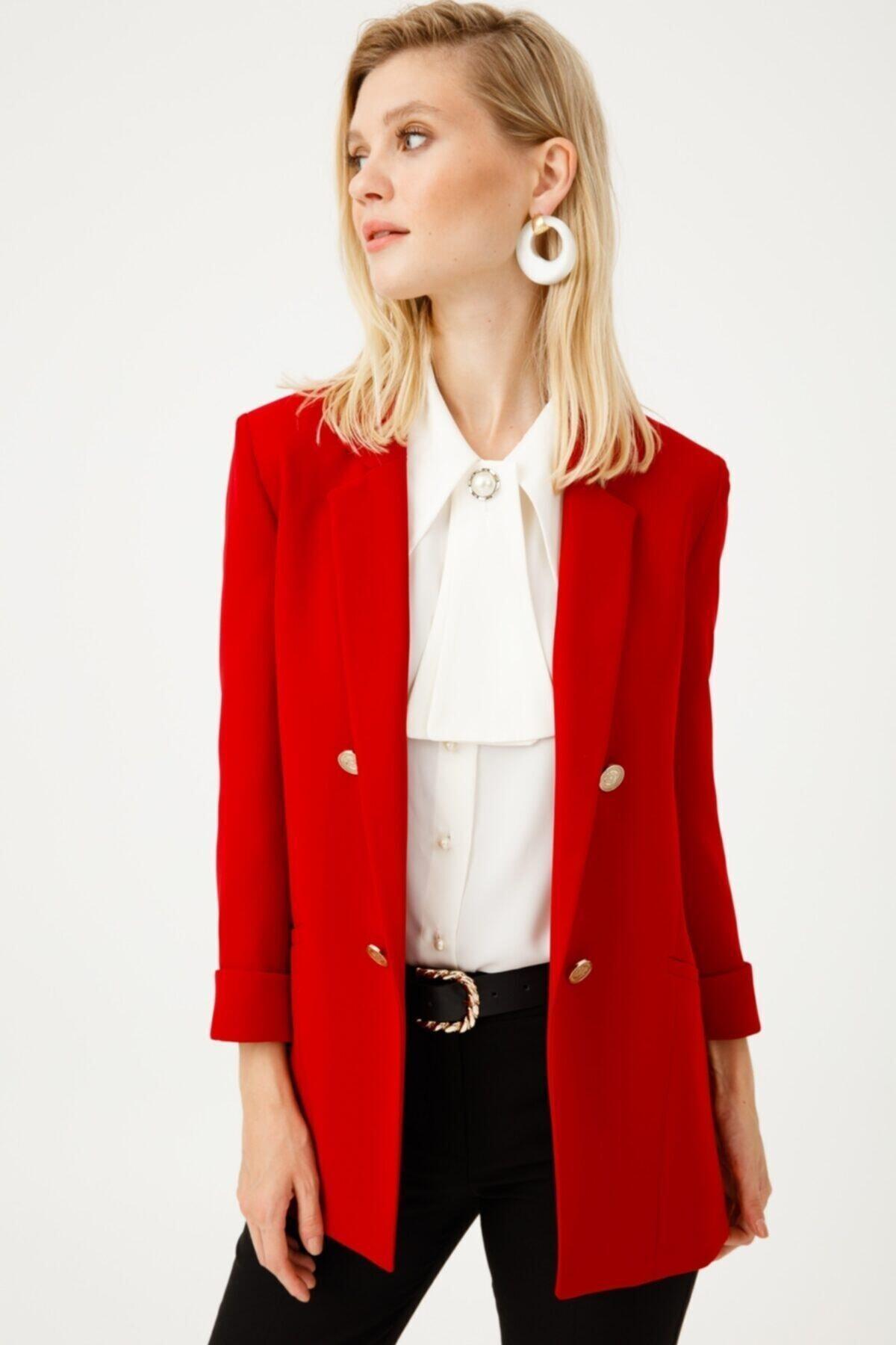Ekol Kadın Düğmeli Blazer Ceket 5007 1