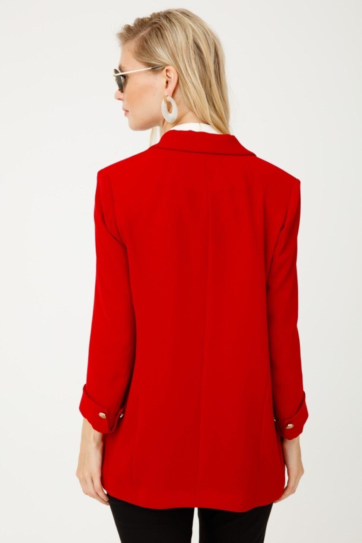 Ekol Kadın Düğmeli Blazer Ceket 5007 2