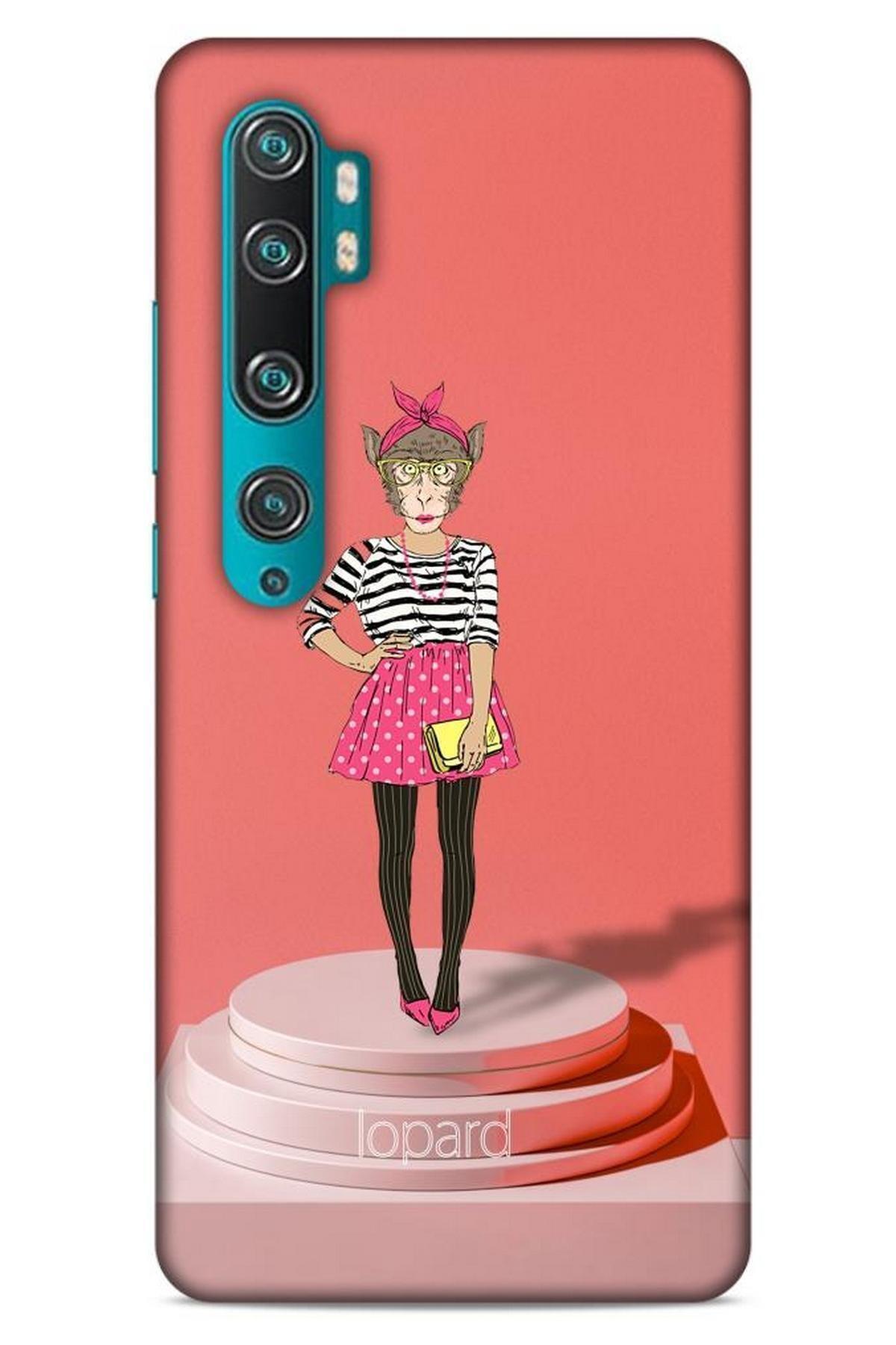 Lopard Xiaomi Mi Note 10 Pro Kılıf Funnymax (9) Kılıf Gül Kurusu Maymun 1