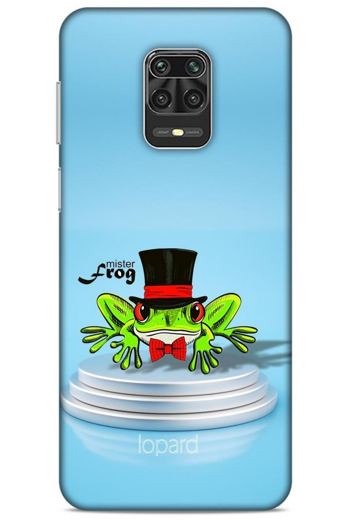 Lopard Xiaomi Redmi Note 9 Pro Kılıf Funnymax (7) Telefon Kılıfı Açık Mavi Kurbağa 1