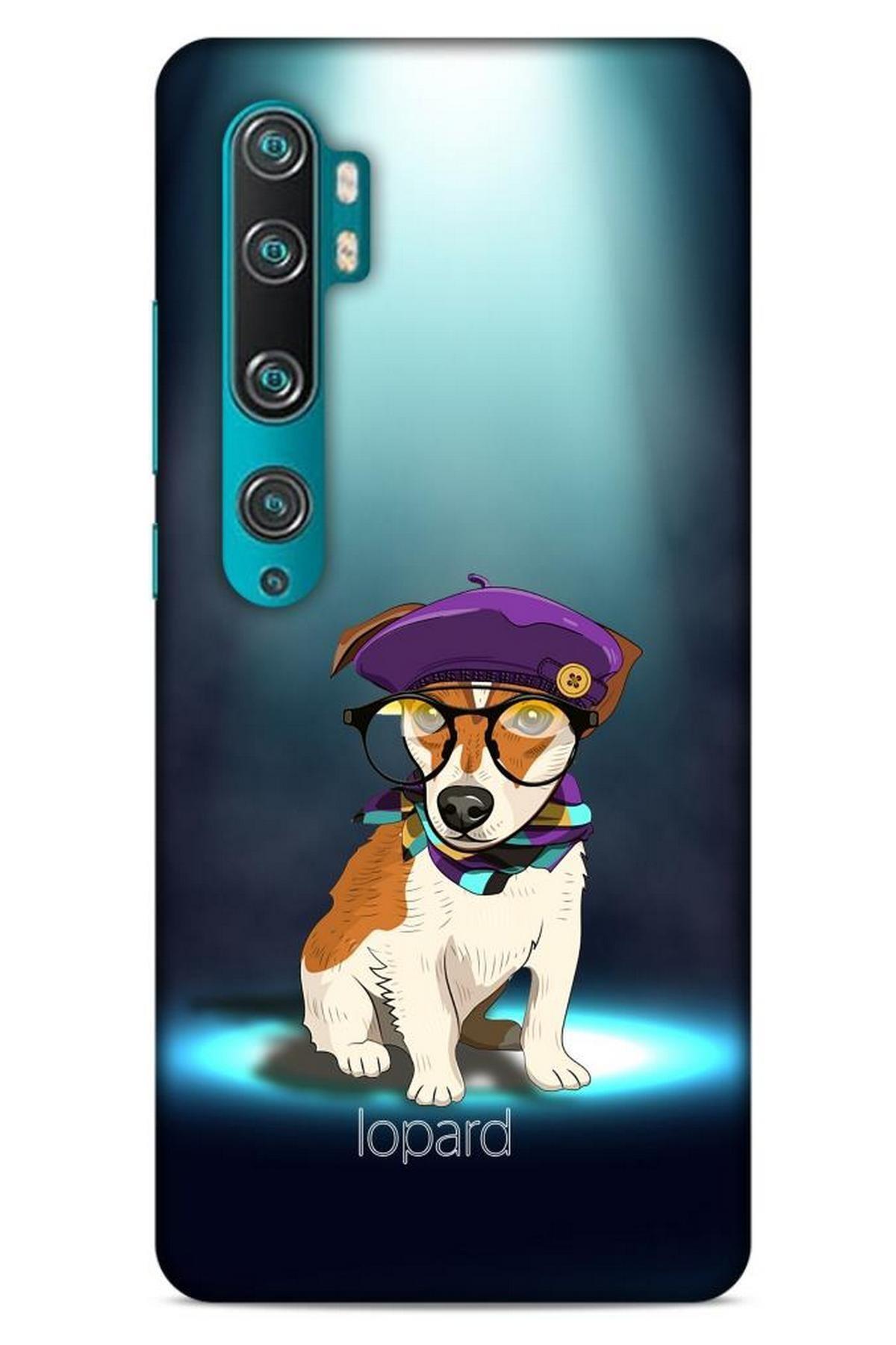 Lopard Xiaomi Mi Note 10 Pro Kılıf Funnymax (5) Koruma Kabı Yeşil Köpek 1
