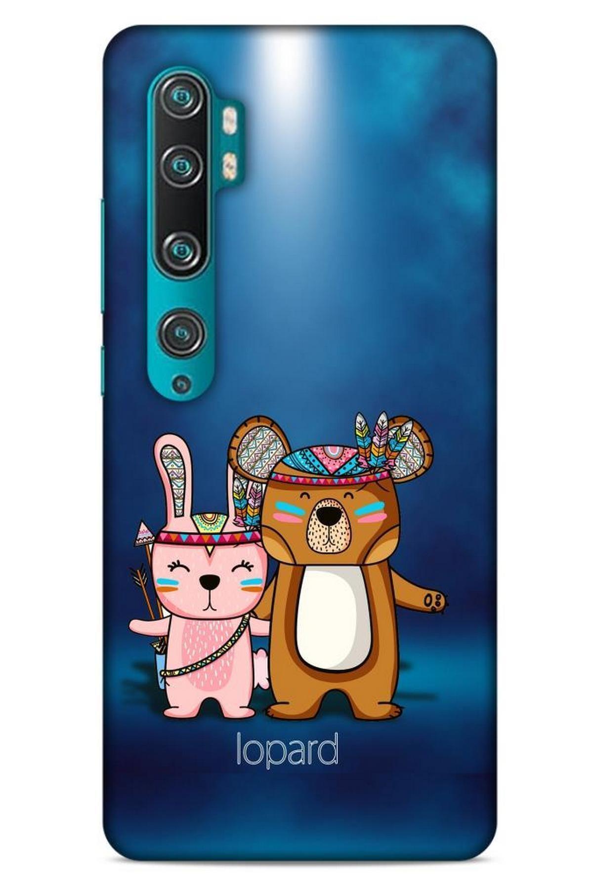 Lopard Xiaomi Mi Note 10 Pro Kılıf Funnymax (2) Kabı Lacivert Beyaz 1