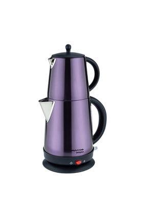 AWOX Demplus Violet Renk Elektrikli Çelik Çay Makinesi