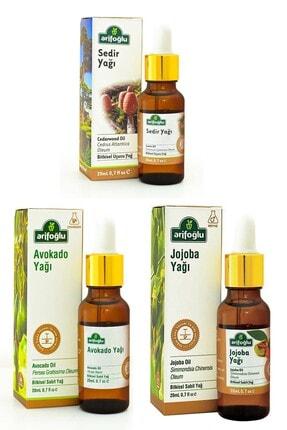 Arifoğlu Tropikal Aromaterapi Seti: Avokado Yağı 20 ml + Jojoba Yağı 20 ml + Sedir Ağacı Yağı 20 ml