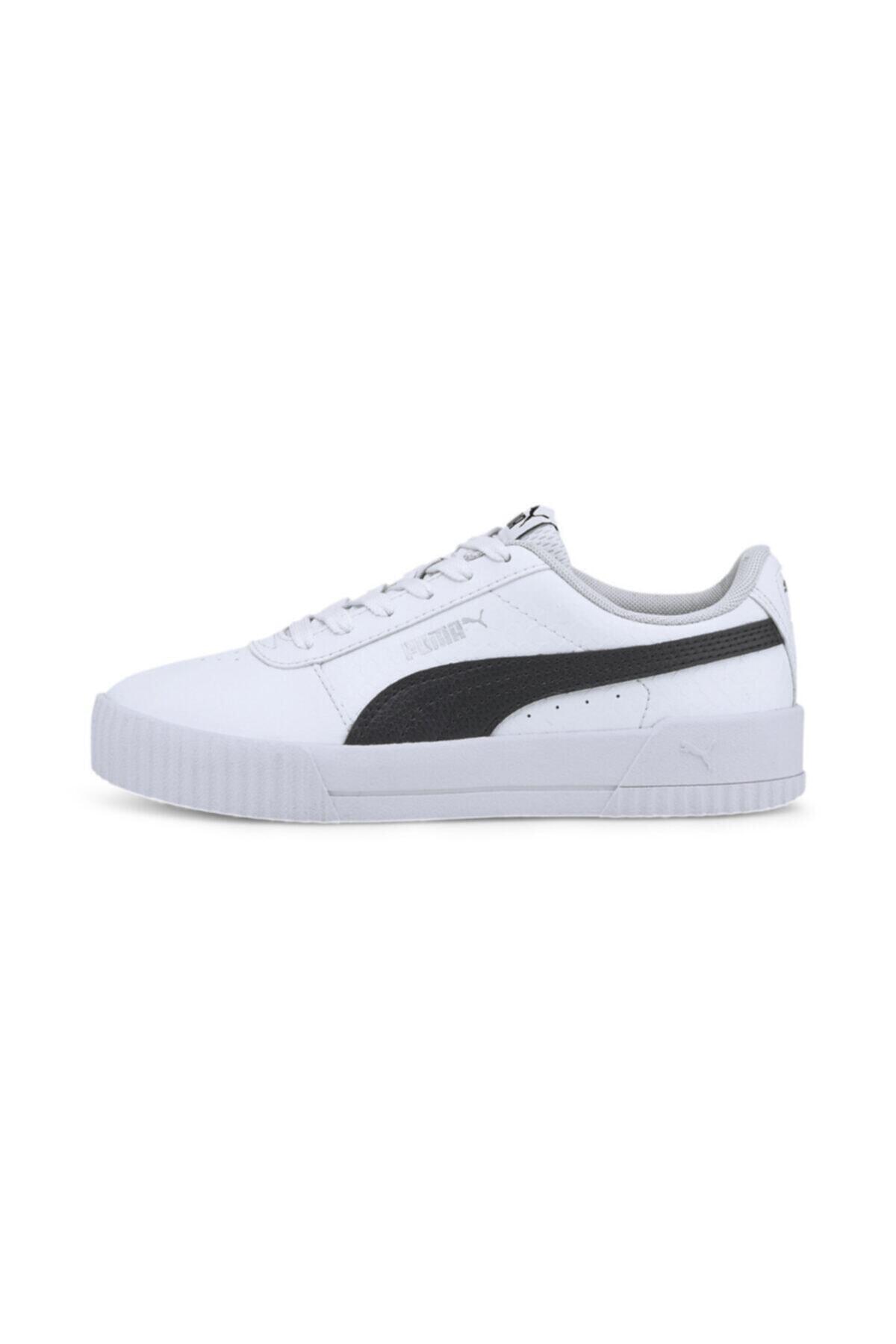 Puma Carina Snake Jr Unisex Siyah Beyaz Sneaker 1