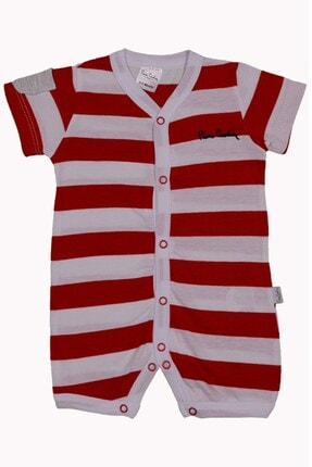Pierre Cardin Baby Erkek Bebek Kısa Tulum Kırmızı