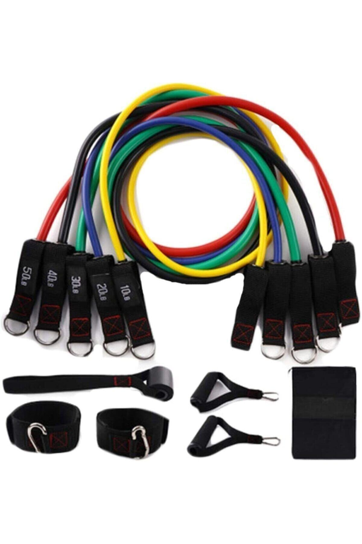 ZEN STYLE 11 Parça Latex Direnç Lastiği Seti Kapı Arkası Direnç Bandı 1