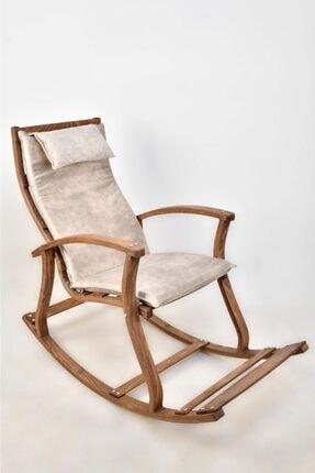 BAVYERA La Bien Ahşap Formlu Sallanan Sandalye Mdl02 Beyaz