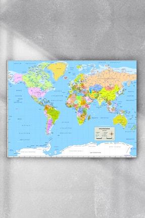 Postermanya Dünya Haritası Eğitim Posteri 2 (60x90cm)