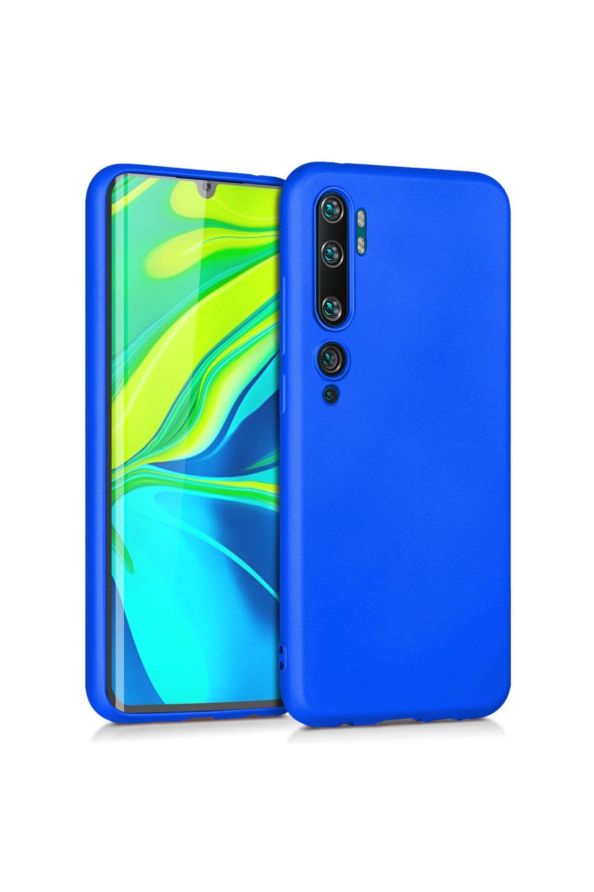 Xiaomi Microsonic Matte Silicone Mi Note 10 Kılıf Mavi 1