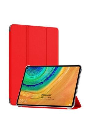Huawei Microsonic Matepad Pro 10.8'' Kılıf Slim Translucent Back Smart Cover Kırmızı