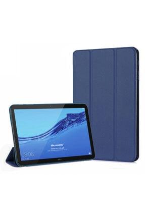 Huawei Microsonic Mediapad T3 10 Kılıf Slim Translucent Back Smart Cover Lacivert