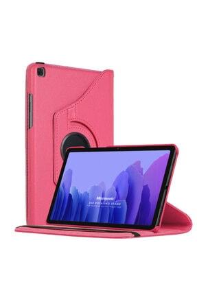 Samsung Microsonic Galaxy Tab A7 T500 Kılıf 360 Rotating Stand Deri Pembe