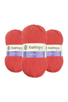 Kartopu Ak-soft K260 (mercan) El Örgü Ipi 1 Adet