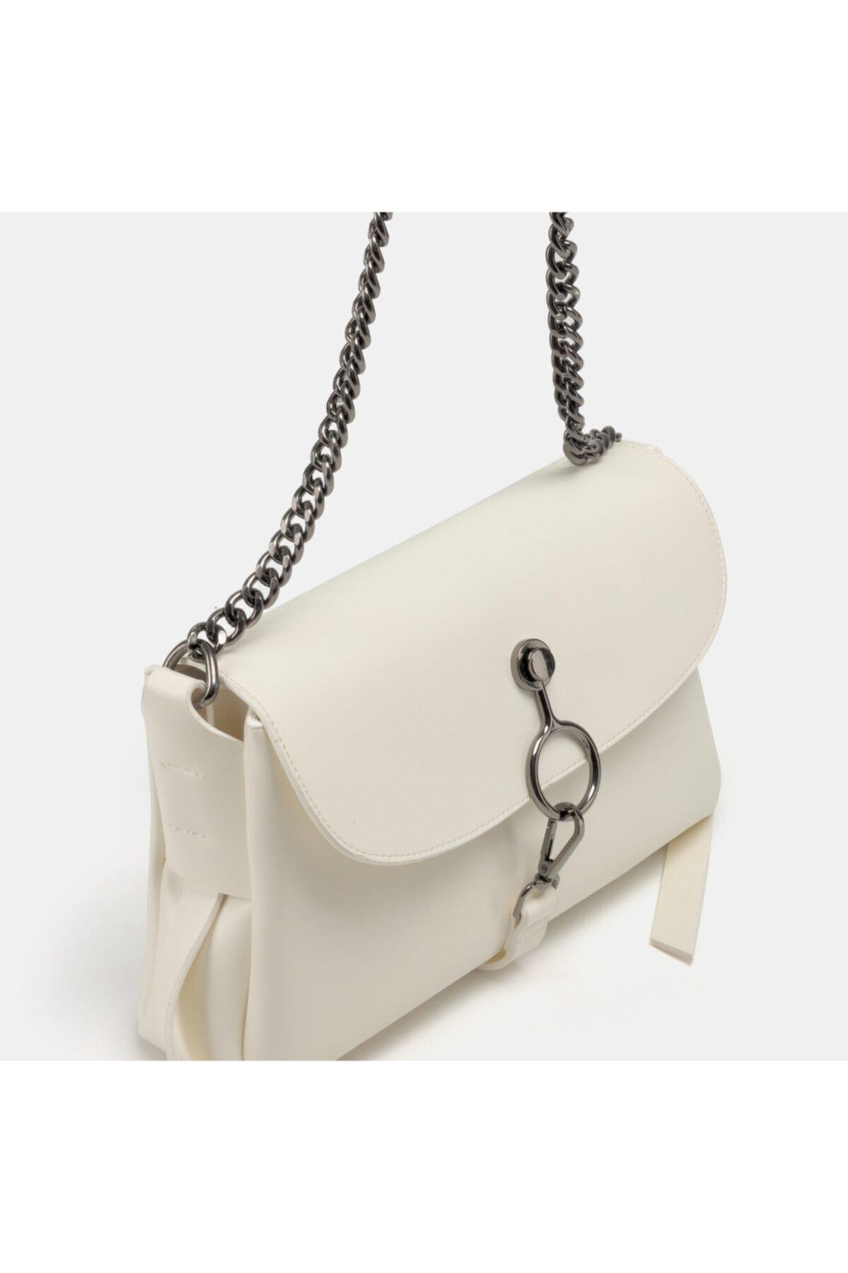 Hotiç Beyaz Kadın Mini (çapraz) Çanta 1