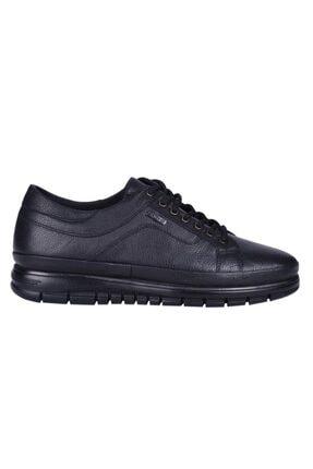 MP 202-4002 Siyah %100 Deri Günlük Erkek Sneaker Ayakkabı