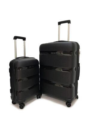 ÇÇS Lux Polypropylene Valiz 2 Li Set Kabin - Büyük
