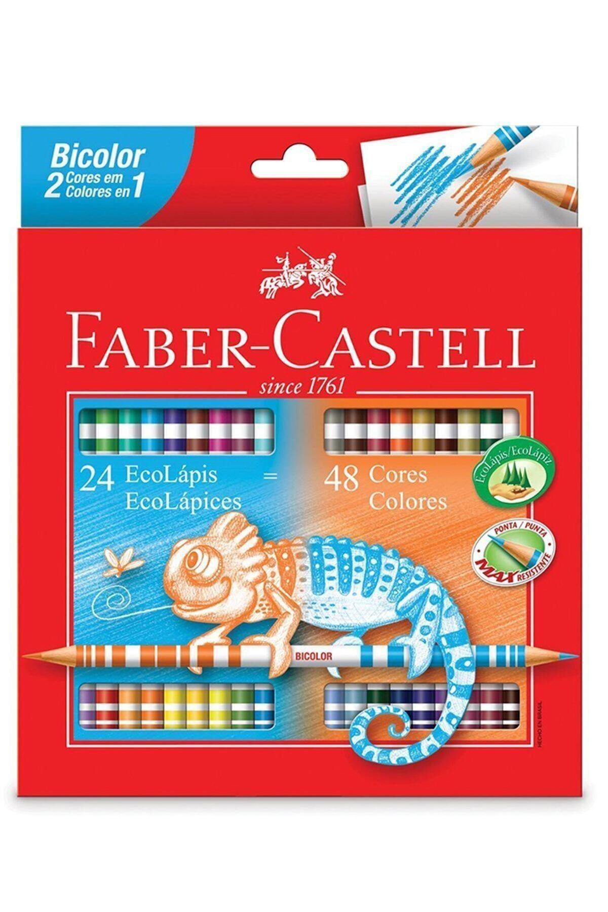 Faber Castell Bicolor Çift Uçlu Kuru Boya 24`lü 48 Renk 1