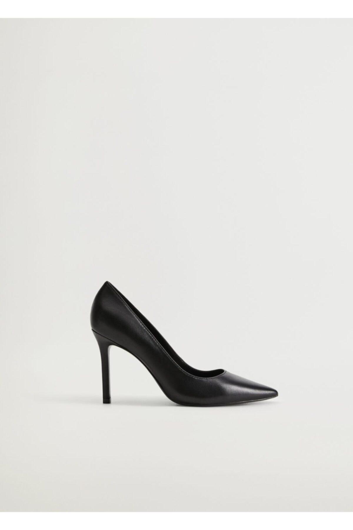 MANGO Woman Kadın Siyah Stiletto Topuklu Ayakkabı 77032891 1