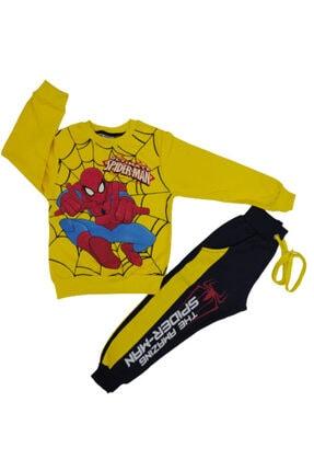 Melek Bebeğim Erkek Çocuk Sarı Mevsimlik Cepli Pantolon Alt Üst Eşofman Takımı