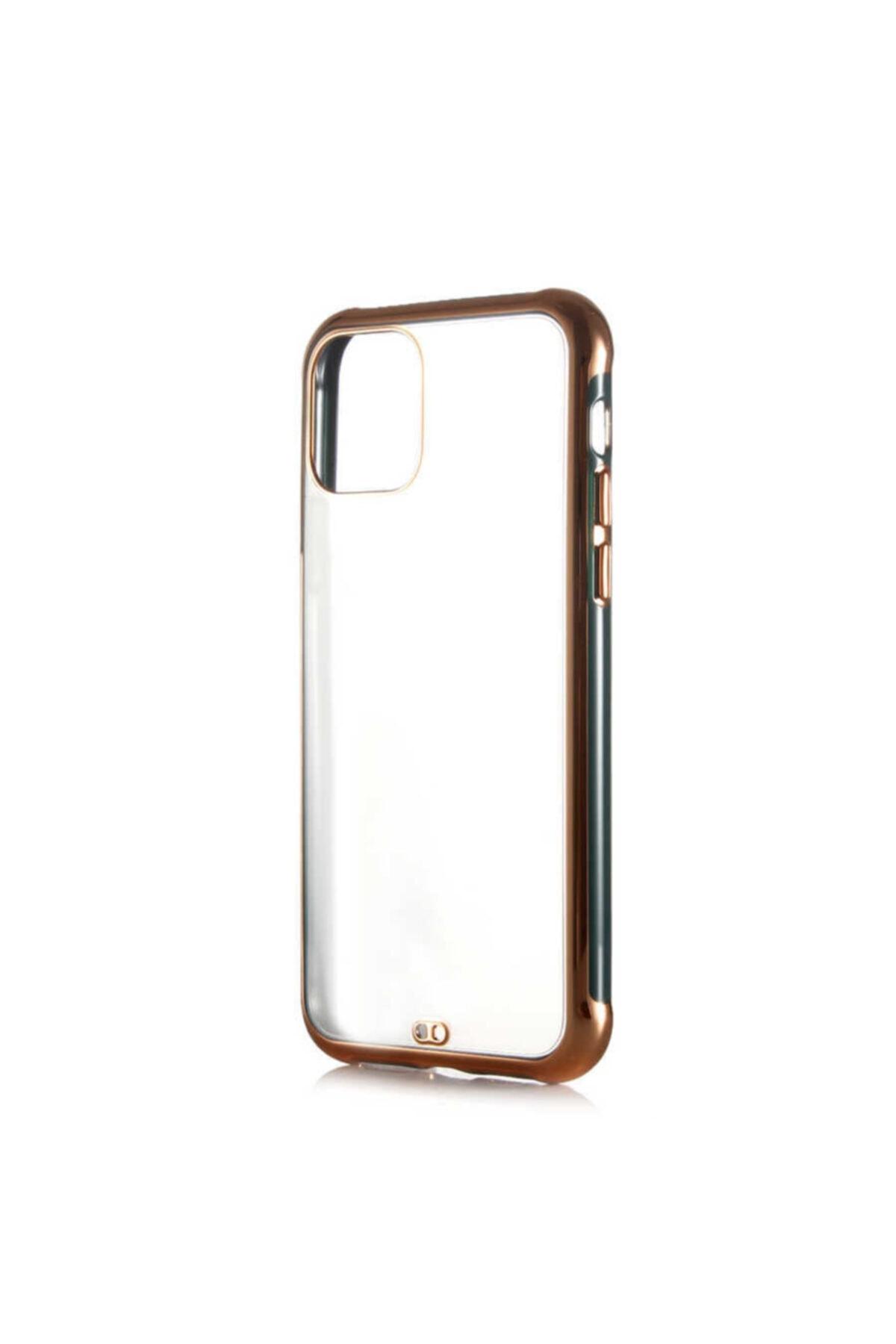 zore Iphone 11 Uyumlu Kılıf Altın Renki Kenarları Pastel Boyalı Voit Model Kapak 1