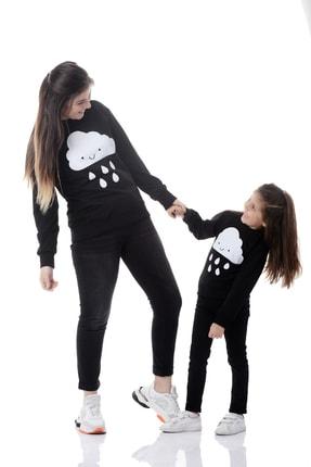 EYLÜL ELİF BUTİK Anne ve Kız Siyah Sweatshirt Kombin