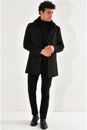 Efor Erkek Siyah Slim Fit  Klasik Palto