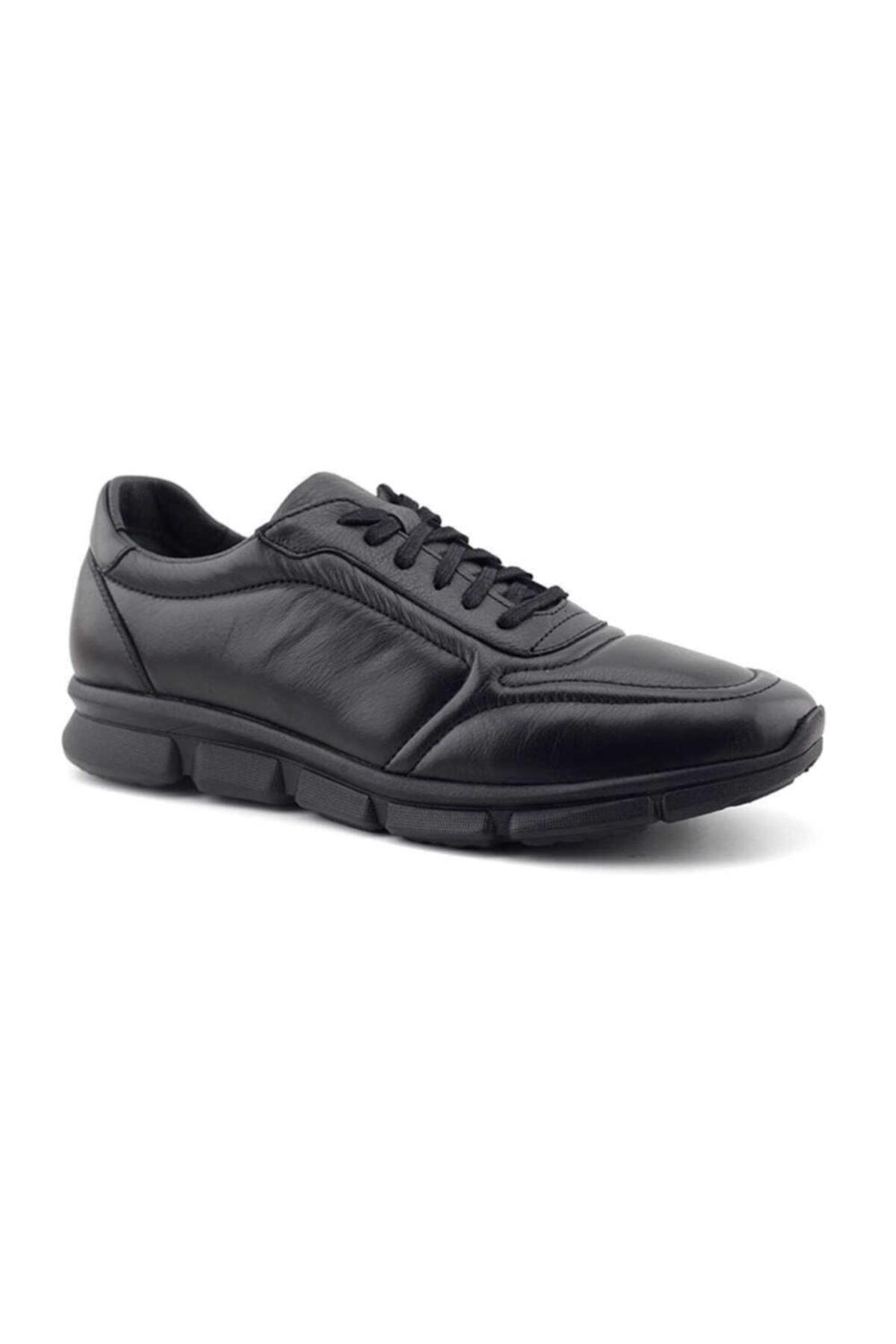 Kayra Chic Foots 011 Hakiki Deri Erkek Ayakkabı-siyah 2