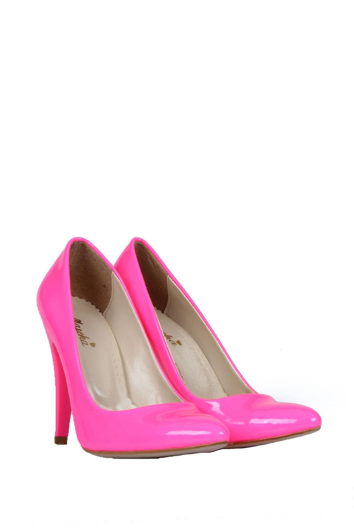 PUNTO Kadın Pembe Topuklu Ayakkabı 1